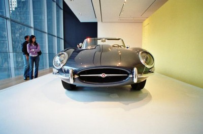 jaguar e type at the moma museum new york