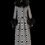 Roberto Capucci 1965 Homage fashion design to Vasarely