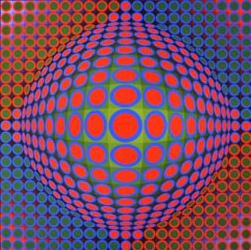Vasarely on beautiful beach house