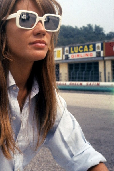 francoise hardyon the set of grand prix film