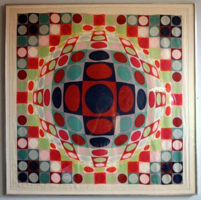 21_vasarely-formidablemag-victor vasarely framed silk scarf