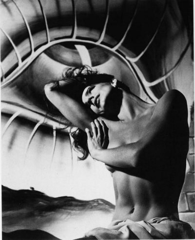 Mad Isolde (Nude in front of Salvador Dali's set design for Mad Tristan), 1944