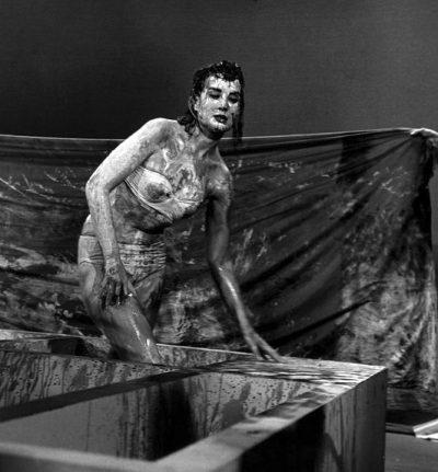 "USA. New York. 1960. Making of ""Chaos and Creation."""
