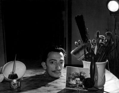 "USA. 1943. Salvadore DALI's ""Head on a Table."""