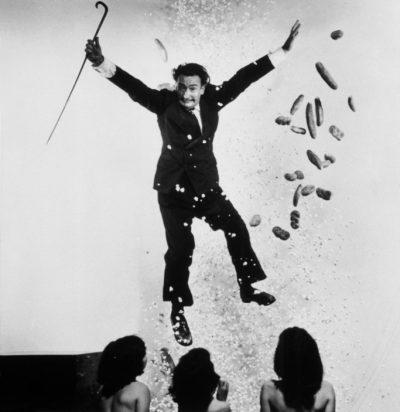 "USA. 1949. Salvador DALI, Spanish painter. ""Popcorn Nude"" variant."