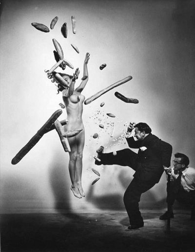 Spanish Surrealist Painter Salvador Dali. USA, New York City, 1951. (Photo by Philippe Halsman)
