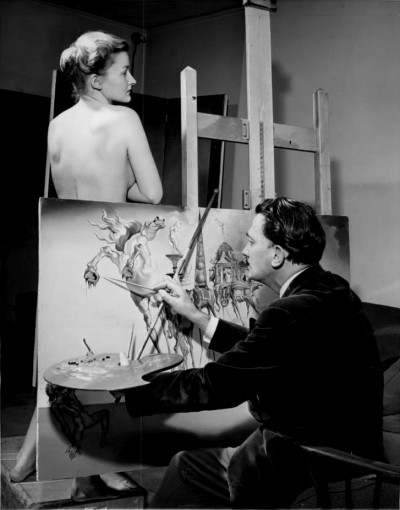 SALVADOR DALI painting 'he Temptation of Saint Anthony