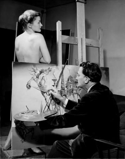 SALVADOR DALI painting 'he Temptation of Saint Anthony