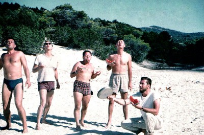 Carl, Dan, ?, me, and Charlie at the picnic