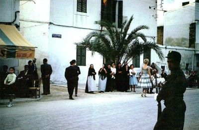 Main street, San Antonio Abad, summer 1959