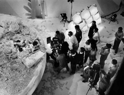 on the set of film Danger Diabolik