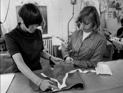 mary+quant at work in her studio