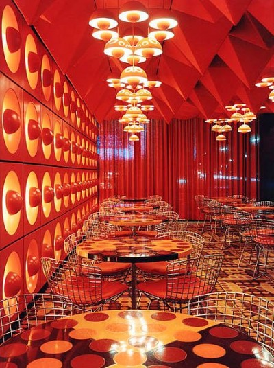 verner+panton cafe interior design