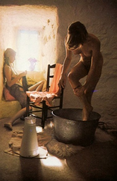 david hamilton photograph of a young woman bathing