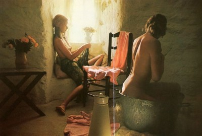 david hamilton, 2 girls bathing in soft light