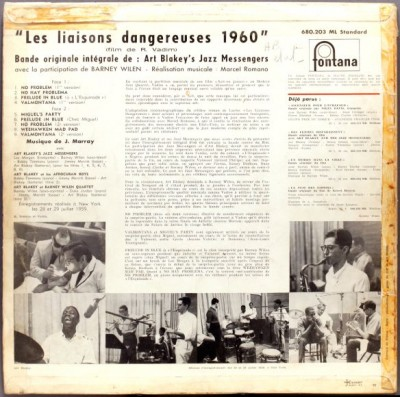 les liason dangereuses formidable mag sound track album back cover
