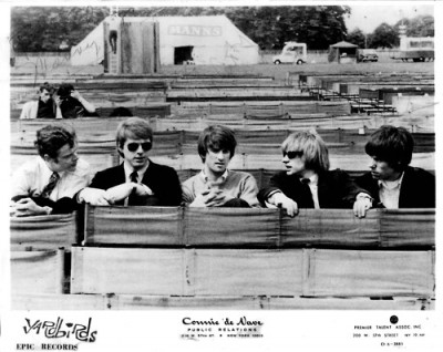 seminal rock band the yardbirds on a park