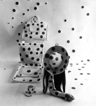 yayoi kusama polka dots instalation