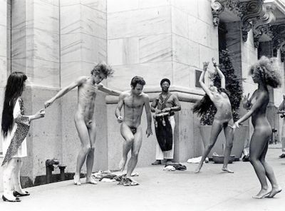 The Anatomic Explosion happening held at the New York Stock Exchange, 1968