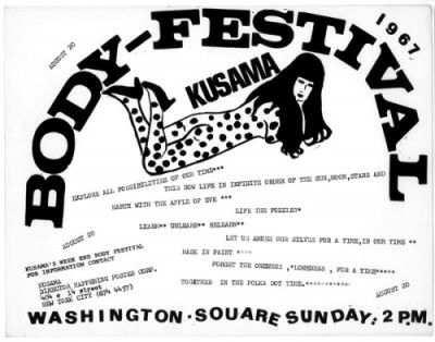body festival announcement poster new york yayoi kusama