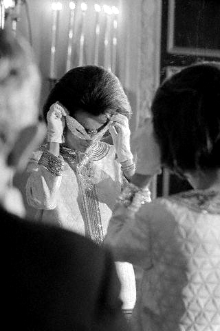 Lee Radziwill Covering her Face