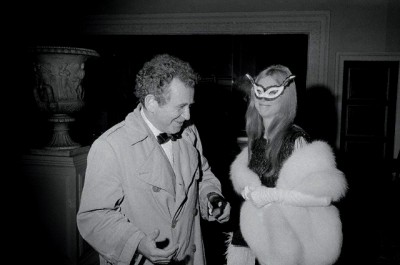 Norman Mailer and Guest In Costume