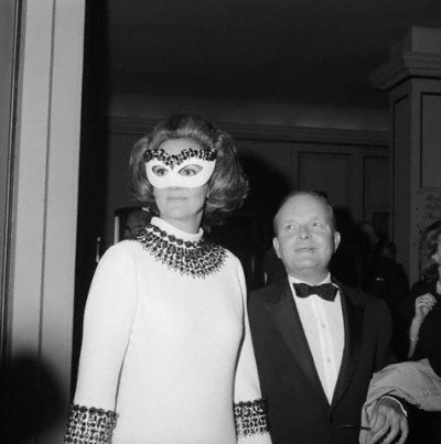 Truman Capote and Katherine Graham at Black and White Ball