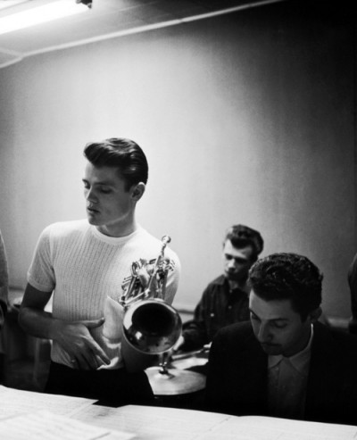chet baker in the recording studio