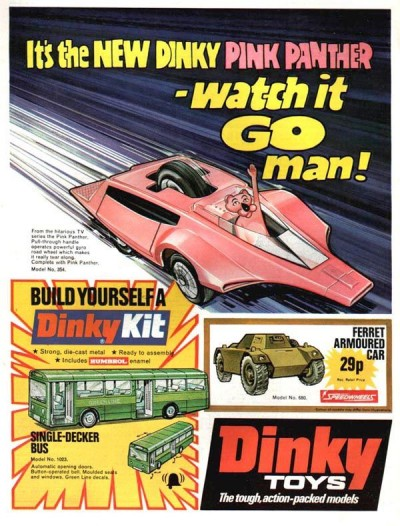 pink panther car toy ad dinky toys