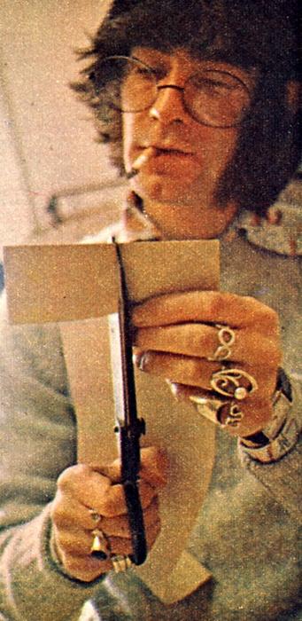 Ossie Clark at work in his studio