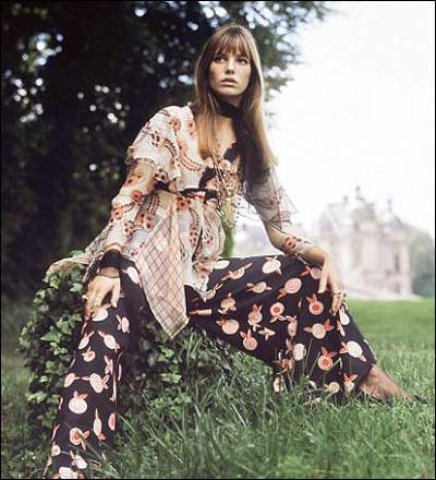 jane birkin+ossie clark+france