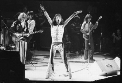 rolling stone+mick jagger in concert early 70s