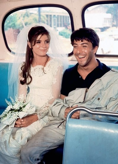 GRADUATE+BUS+Katharine Ross+HOFFMAN run away couple on a bus