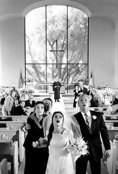 GRADUATE+CHURCH+WEDDING scene