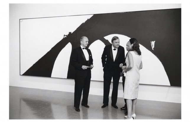 robert motherwell at a show opening