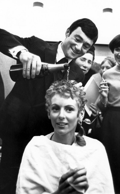 Rip champagne hair by vidal sassoon on mia farrow
