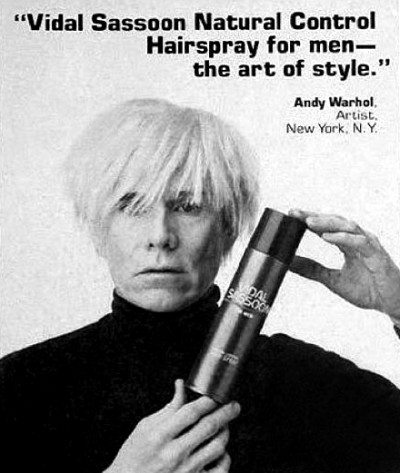 andy warhol+vidal sassoon