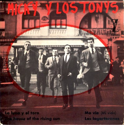 micky y los tonys single record cover for megaton ye-ye