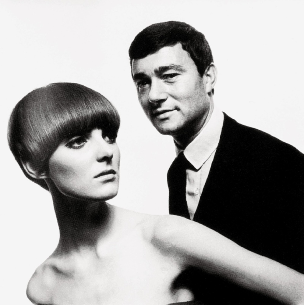 Vidal Sasson here with fashion model Grace Coddington.
