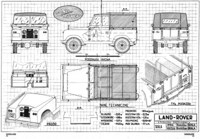 Land Rover blue print