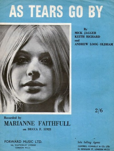 as tears go by marianne faithful,60s style icon, rock,formidable magazine ,actress,pop music,musique, chica yeye