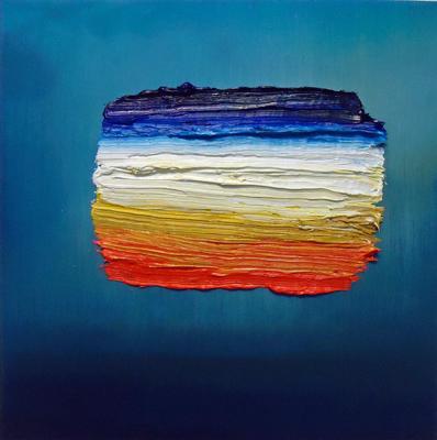 2014. YEKE YEKE, _el ultimo cielo_, 50 x 50cm, oleo sobre lienzo