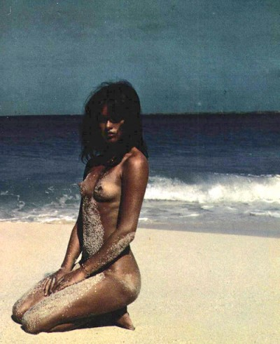 uschi obermeier on the beach