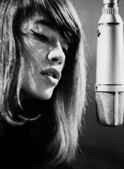 Françoise Hardy in the recording studio