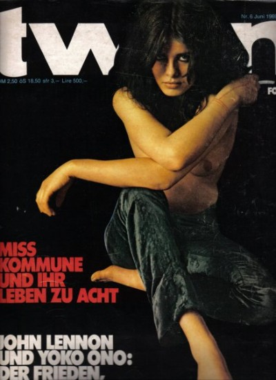 Uschi Obermaier tween magazine cover