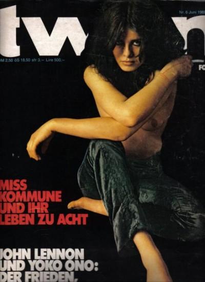 Uschi Obermaier tween magazine cover
