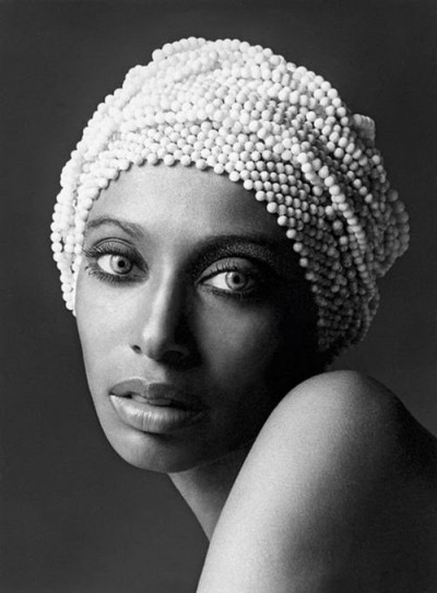 "06_Donyale Luna, 1966, once called ""the reincarnation of Nefertiti"", the first black woman to appear on the cover of Vogue, photo by David Bailey"