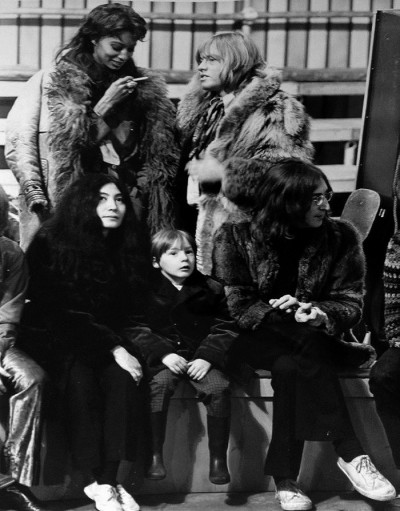 09_John and Julian Lennon, Yoko Ono, Rolling Stones Guitarist, Brian Jones and 60's Super Model Donyale Luna 1968 family show