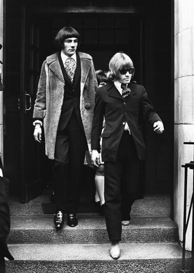 Rolling Stones Brian Jones, right, Prince Stanislas Klossowski de Rola, Baron de Watteville, in London on May 11, 1967.