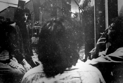 stash de rola and the beatles john lennon and paul maccartney taking a break in a recording session